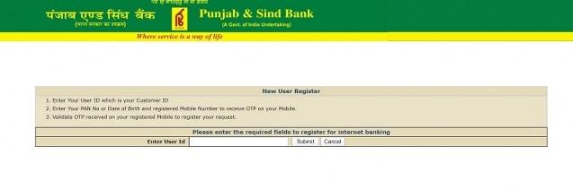 psb mobile banking registration online