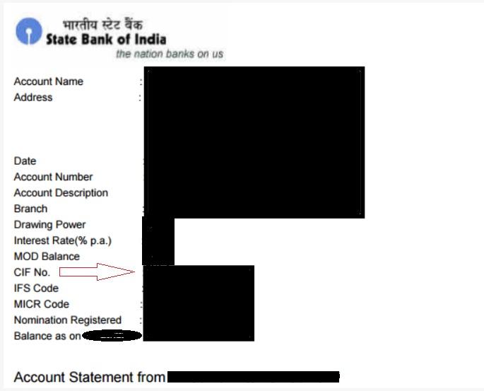 cif number of statement pdf file