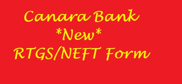 Canara Bank RTGS Form
