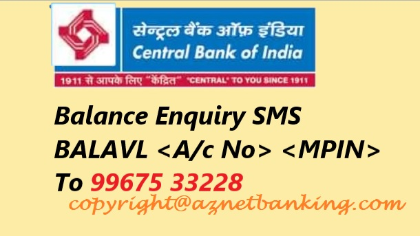 Central Bank of India SMS to cheque balance