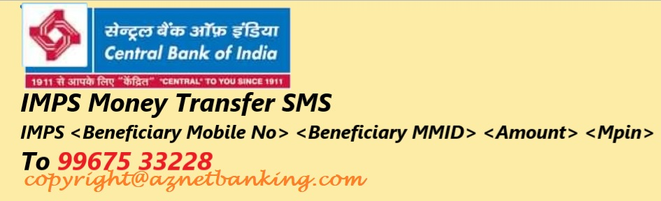 Central Bank of India SMS for IMPS