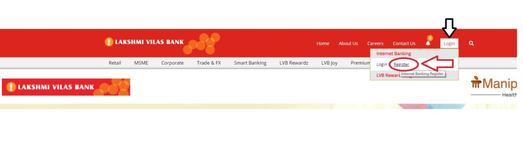 lvb net banking registration