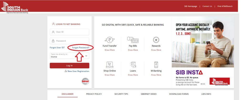 South-Indian-bank-net-banking-reset-password