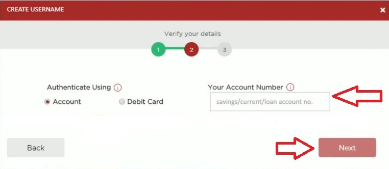 enter debit card number