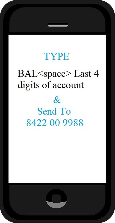 balance enquiry SMS