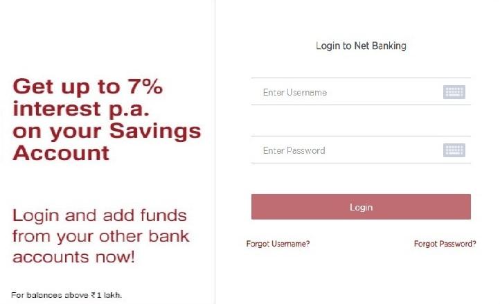 idfc bank internet banking login
