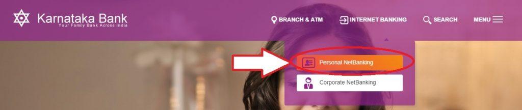 Karnataka bank net banking personal login