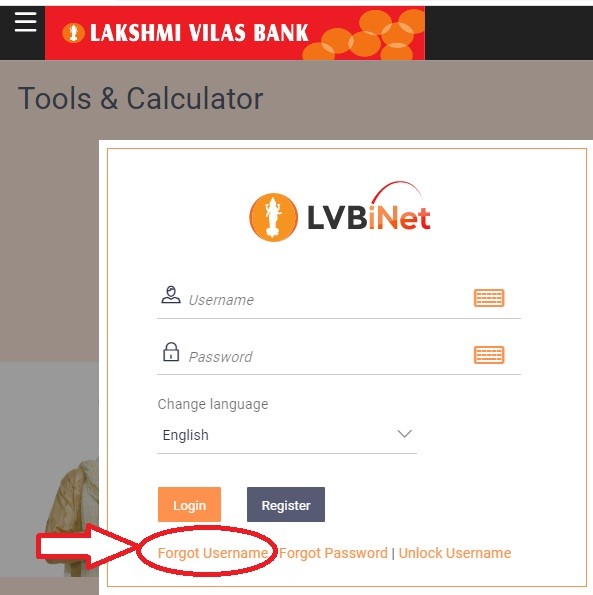 lvb net banking username recovery