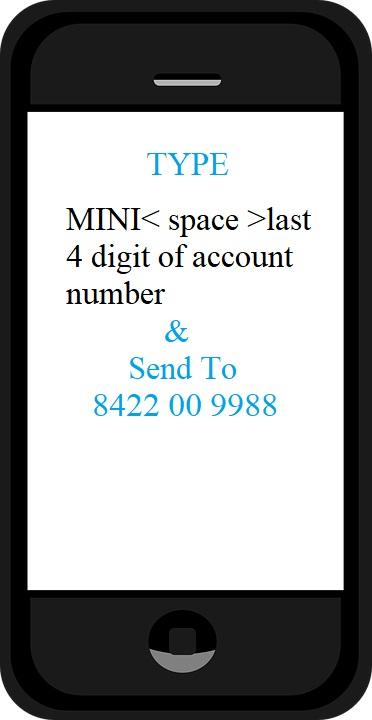 mini statement sms
