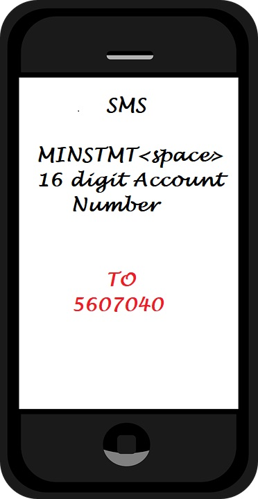 mini statement sms