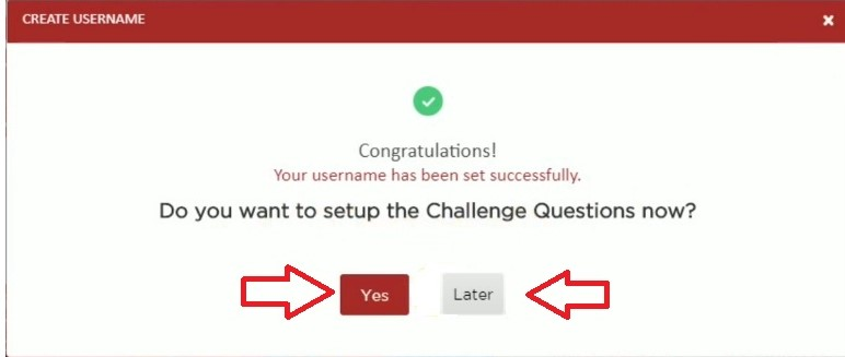 set up security question