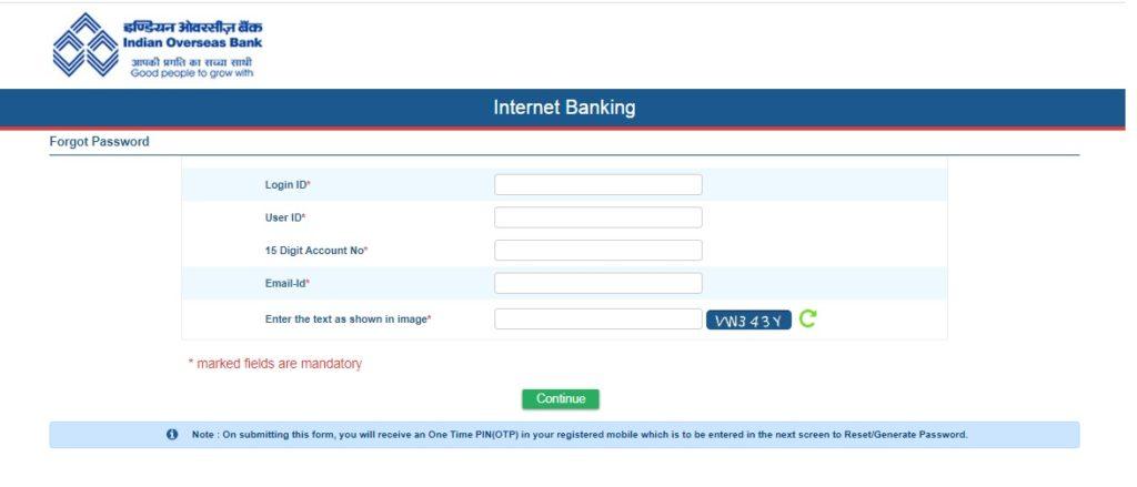 forgot password corporate net banking