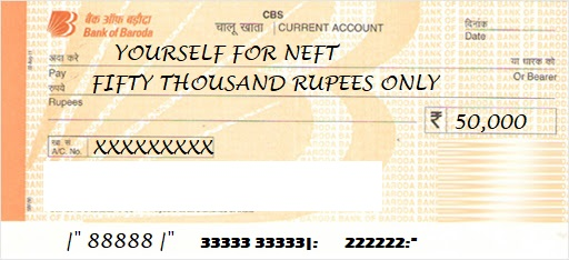 bob neft sample filled cheque